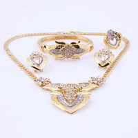 Free shipping  wedding gold jewelry sets gold plated jewelry sets 18K gold necklace sets african beads jewelry sets