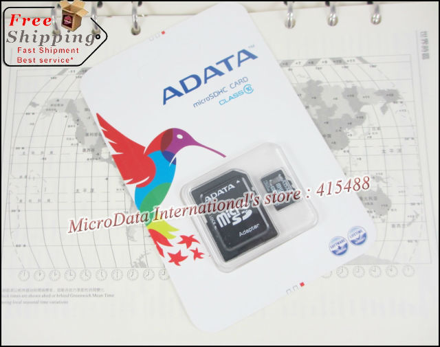 ADATA Micro SD Card 64GB Class 10 32GB Memory Cards Flash Card Micro SDHC Microsd TF Gift Adapter + USB Reader Package MicroData(China (Mainland))