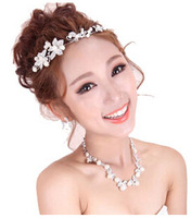 2014 Hot sale!!!New design top crystal bridal jewelry sets wedding Ivory pearl bridal jewelry sets
