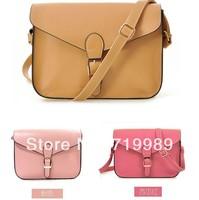 Vintage satchel women cross body leather handbag lady messenger shoulder bag candy color mulheres saco couro PU bolsa de ombro
