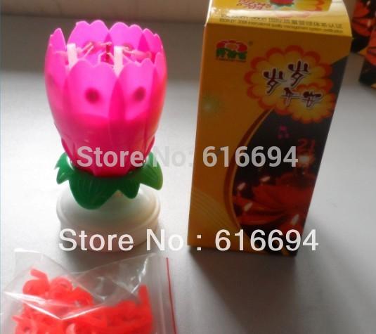 5pcs/set Sparking rotating music firework decorative birthday wholesale paraffin wax candle holder(China (Mainland))