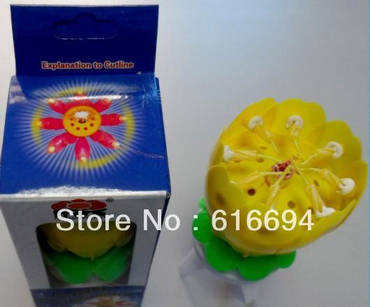 5pcs/set fireworks flower music cake decoration birthday Candle(China (Mainland))