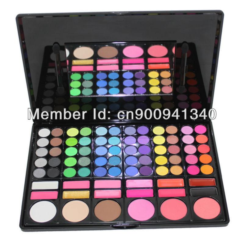 Free Shiping Cheap Beauty Product Series-- 3#P78 78 Color Eyeshadow / Cheek Blush /Pressed Powder/ Make Up Set(China (Mainland))