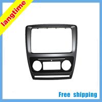 Free shipping-Car refitting DVD frame,DVD panel,Dash Kit,Fascia for 2013 Skoda Octavia(2010RS,Yi Zun),2DIN