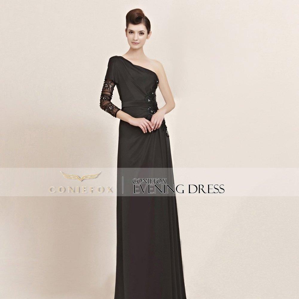 Black evening dresses petite