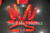 Red FIA 2018 Homologation Sabe** racing Harness/ Racing Satefy Seat Belt width:3 inches/6Point