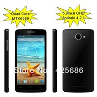 MTK6589 Quad Core 1.2G Hz  ,5.0inch android phone,3G,WCDMA ,large screen,android 4.2.1