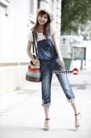 New Fashion denim Overalls Women's jumpsuit Jeans/Ladies' capirs pants jeans Rompers/Female suspender/Capris trousers/WOJ