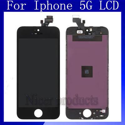 Versandkostenfrei 5g handy LCDs für iphone 5 5g lcd-touchscreen dispaly Schwarzweiß