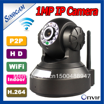 free shipping  P2P 1.0MP Wifi  Pan/Tilt  IP Camera Support firefox ,google chrome, Safari ,hotmail  gmail, hEmail Alarm