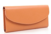 2014 Fashion Genuine Leather Wallets Concise Wallet Ladies Purses Moneybags Cardbags BH1018+Free Shipping