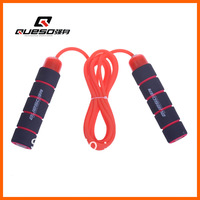 Hot Wholesale Mechanical Weight jump rope 2.75M Pofessional Jump Rope Sponge wristbands Small weight Free Shipping QS-90003