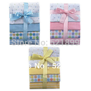 4pcs/lot Free Shipping USA Luvable Friends 4 Count  Baby newborn Flannel Receiving Blankets,