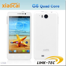 "New 5.0"" Xiaocai G6 HD 1280*720 quad core mtk 6589 1G RAM 4G ROM 12.6MP camera android 4.2.1 unlocked mobile phone(China (Mainland))"