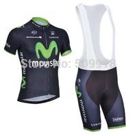 Road cycling jersey short sleeve and cycling bib shorts Sets mountain bike clothong&bike shorts kits green