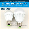 5PCS/lot led bulb lamp High brightness E27 3W 5W 7W 2835SMD AC220V 230V 240V Cold white/warm white Free shipping(China (Mainland))