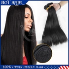 Virgin Brazilian hair Straight hair 5A grade 3pcs/lot natural color human hair factory price(China (Mainland))