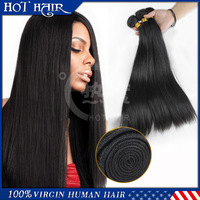 Virgin Brazilian hair Straight hair 5A grade 3pcs/lot natural color human hair factory price