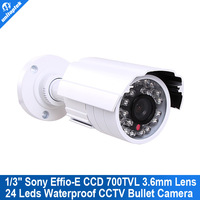 "700TVL 1/3"" Sony Super HAD CCD II board CCTV 24IR 3.6mm Lens Nightvision Bullet outdoor Camera"