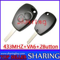 pcf7947 chip 433mhz  remote Key  for   Renault  Kangoo Megane  laguna VA2 Blade