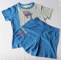 boy summer clothing set cartoon spiderman short sleeve t shirts shorts 2 pcs children suit clothes cotton super man superhero