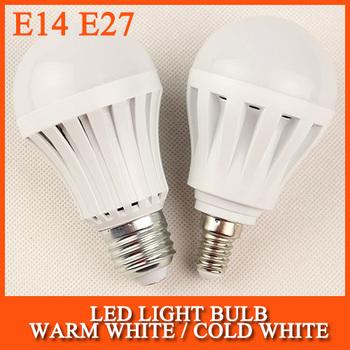 High brightness LED Bulb Lamp E27 2835SMD 5W 9W 15W AC220V 230V 240V Cold white/warm white Free shipping