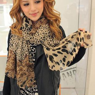 2014 Fashion style scarf spring and autumn patchwork leopard grain chiffon scarves ladies' shawl neckerchief