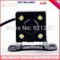 whosales, 4 IR HD CCD Night vision waterproof color car rear view camera car back up camera car pariking system,Free shipping