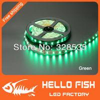 HELLO FISH 5m 300 LED 3528 SMD 12V RGB flexible light 60 led/m,LED strip ,Free Shipping