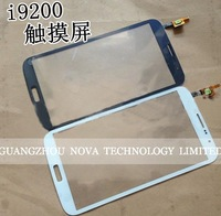 100% New For Samsung Galaxy Mega 6.3 i9200 Touch Screen Glass Digitizer Replacement in black and white Color; HK Post Free