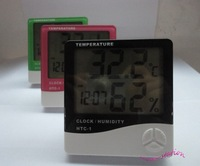 Large Screen LCD Temperature and Humidity  Timer Thermometer Electronic Desk Clock 3 colors