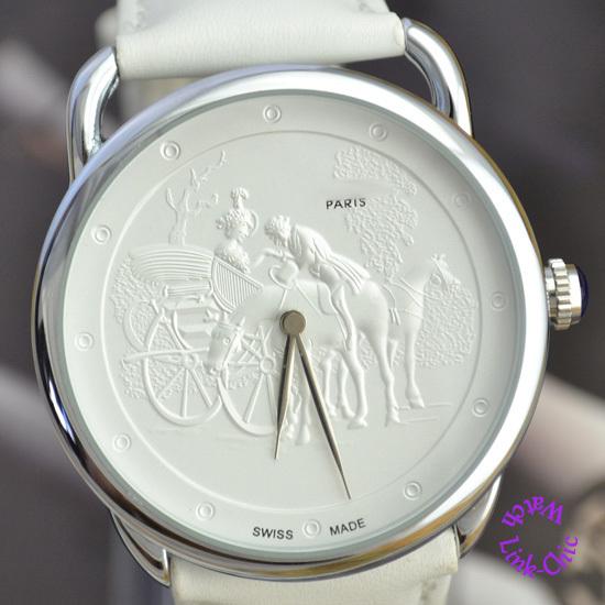 fashion luxury elegant good quality famous woman white horse gentleman unisex paris carriage quartz wrist watch wristwatch hour(China (Mainland))