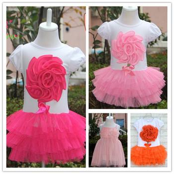 [ Bear Leader ] Free Shipping New  Baby Girl Flower Dress Kids Summer Short-Sleeve Layered Dress Children Clothes ClothingAQZ040