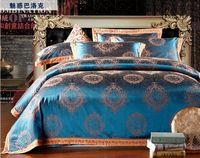 16 types jacquard bedding set luxury 4pc comforter bedding sets king size hot sale duvet cover bed sheet