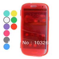 Free shipping Transparent Protective Soft TPU Cover Case for Samsung Galaxy S3 I9300 (Assorted Colors)
