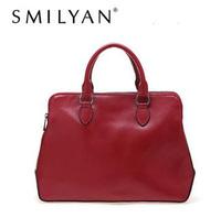 Free shipping! Smilyan 2014 fashion vintage briefcase Genuine leather women handbag Totes shoulder bag women's leather handbags
