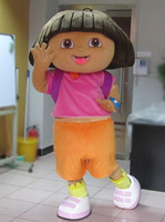 High quality of DORA the explorer adult costume love expeditionary DORA mascot costume plush cartoon Free shipping