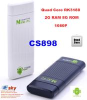 CS898  Bluetooth Quad Core MK809 III RK3188 TV Box Dongle 2G RAM 8G ROM Android 4.2 HDMI WiFi