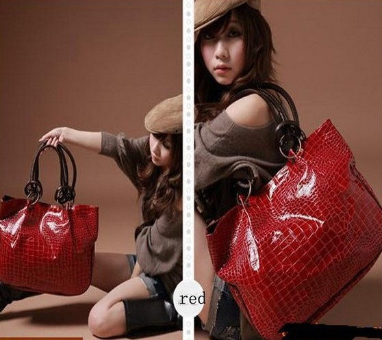 2013 Fashion New Women Ladys PU Leather purses handbags Totes HOBO Shoulder Bag free shipping(China (Mainland))