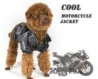 Fashion cool pet dog against wind motocyle jacket clothes, Pet clothing coat product Free Shipping