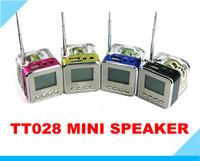 TT-028 NiZHi  transparent  mini speaker with FM radio LED Screen ,TF USB Disk Speaker for MP3/4 computer 100pcs TT028  FREE DHL