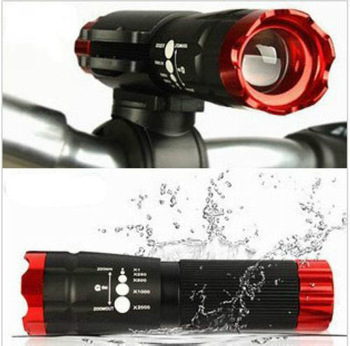 New Arrival 2014 Bike Bicycle Head Front Light CREE Q5 LED Flashlight 240 Lumen Torch + Clip Red / Free shipping