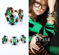 free shipping big star and big brand  fashion fine jewelry ,new Lux party and wedding blue crystal bohemia bracelet