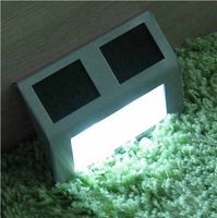 2 LED Stainless Steel Solar Stair Lamp garden path light solar wall lamp luminaria columbia outdoor solaris outdoor light