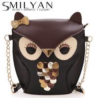 Free shipping! Smilyan 2014 new fashion fanny owl bag PU leather women vintage backpacks for girls cute backbacks wholesale