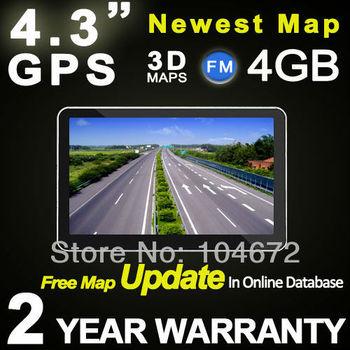 Portable 4.3 inch GPS Navigation Navi Navigator For Car Truck Bike DDR 128M RAM TTS POI MP3 4GB Free Map Update