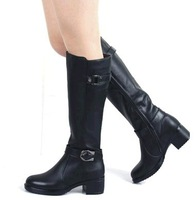 botas boot shoes fashion platform round toe boots black genuine leather rubber martin rivet low heel flat boots mujeres feminina
