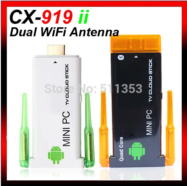 CX-919 II Quad Core TV Dongle Android RK3188 1.6GHz Mini PC 2GB RAM 8GB ROM Stick Bluetooth Twin WIFi antenna CX-919II(China (Mainland))