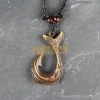 12pcs Free Shipping Indian Jewelry Bone Necklace Classic Unisex Style Pendant Fish Hook N0242