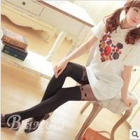 2013 Lovely Heart Pattern Design High Tube Ladies' Silk Leggings Women's Stocking Pants 1pc retail Free Shipping